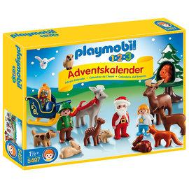 德國Playmobil摩比5497聖誕降臨曆-123系列聖誕老公公