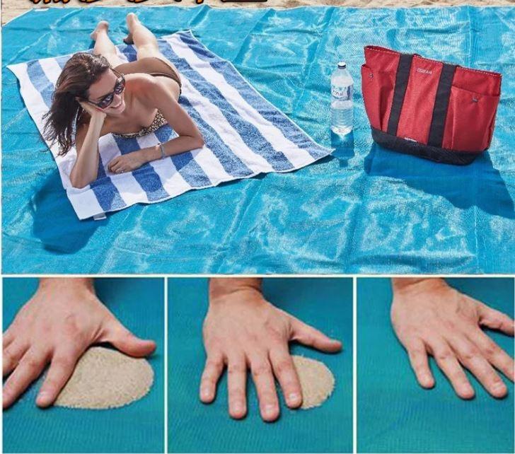 拉拉百貨漏沙灘墊防潮墊爬行墊露營墊烤肉墊餐草坪墊海邊度假戶外用品