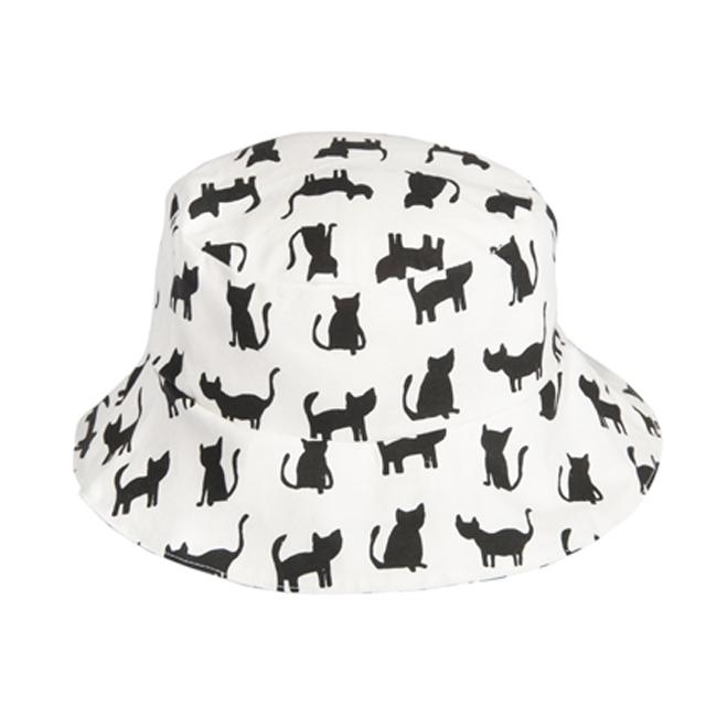 比利時Trixie有機棉遮陽帽童帽~黑白貓咪48 50 52cm