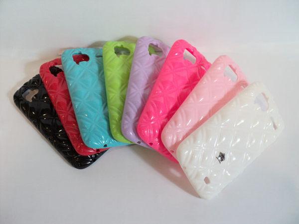 ✔SAMSUNG GALAXY S2 i9100 菱格紋/亮粉/保護殼/保護套/矽膠套/英皇世家手機立體保護套