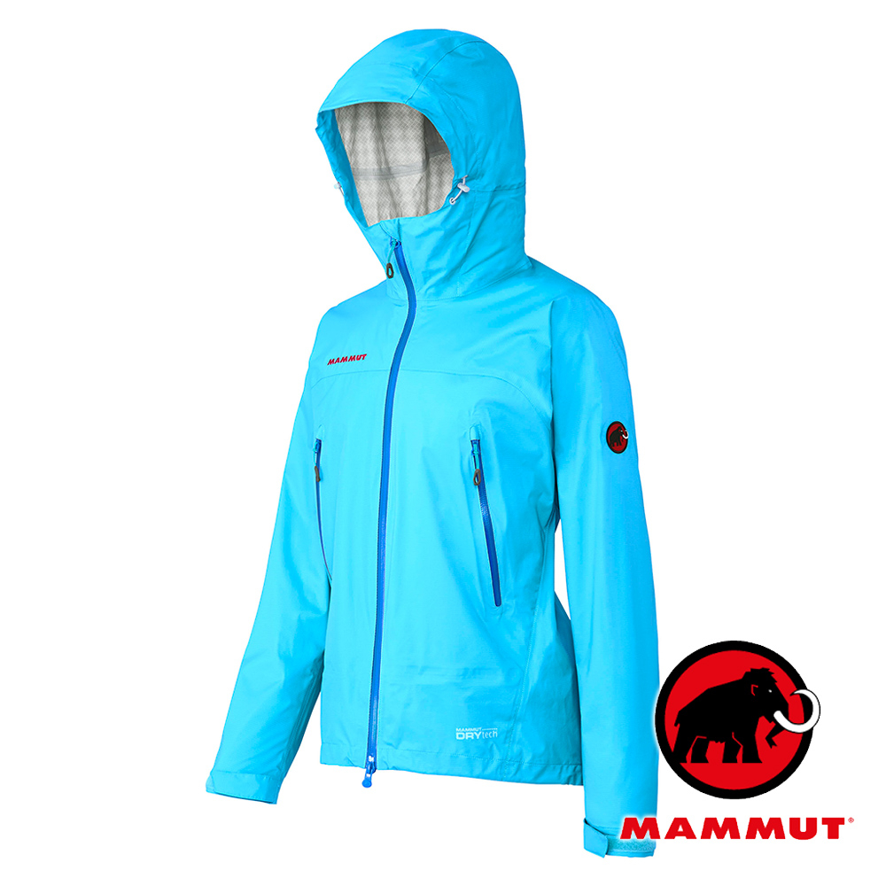 MAMMUT長毛象女單件式防水透氣外套僅225g超輕量DRYtech MICROLAYER太平洋藍1010-25350非GORE-TEX