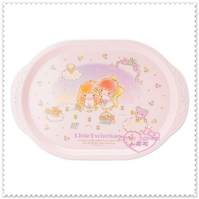 小花花日本精品雙子星kikilala粉色小熊繽紛音符星星夢幻星空緞帶托盤點心盤11175209