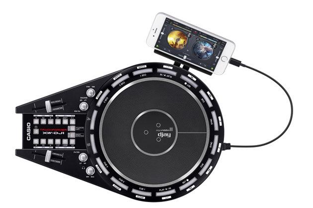 【金聲樂器廣場】CASIO XW-DJ1 / XWDJ1 可攜式 DJ 刷盤機 可連接iPhone DJ Apps
