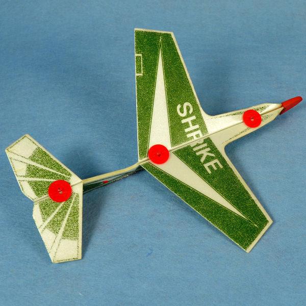 佳廷家庭 DIY紙模型立體勞作3D立體拼圖專賣店 航空模型飛機 彈射迴旋飛機1 SHRIKE FLYWITCH