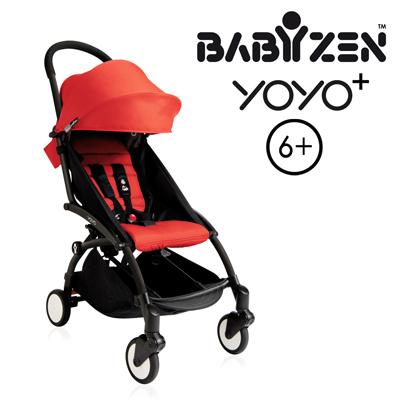法國BABYZEN YOYO 6嬰兒手推車-黑車紅衛立兒生活館