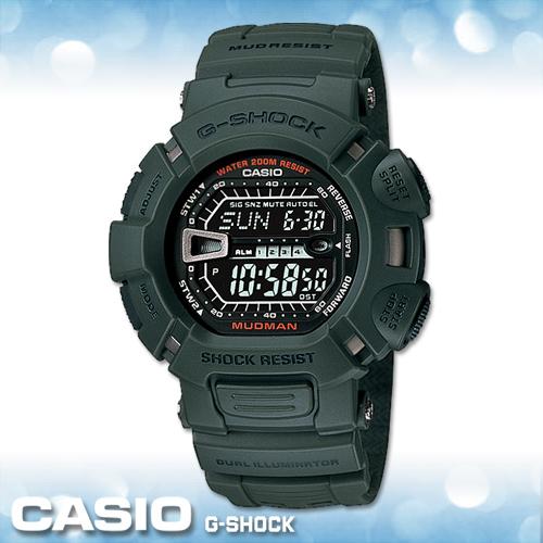 CASIO手錶專賣店卡西歐G-SHOCK G-9000-3V電子錶MUDMAN泥人系列防塵防泥設計