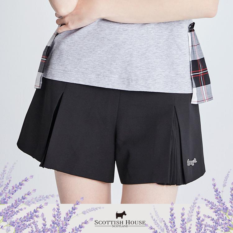 雪紡百褶素色短褲 Scottish House【AI2254】