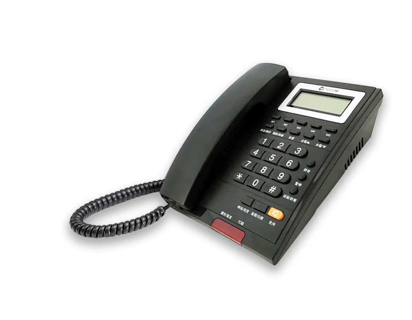 【福利品】TECOM 顯示型話機 AP-3303-家用電話/室內電話/話機-黑