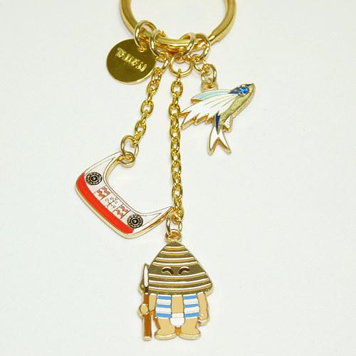 【鹿港窯】台灣印象紀念-金愛台灣鑰匙圈【蘭嶼】