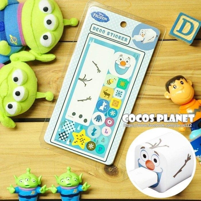 迪士尼裝飾貼紙冰雪奇緣雪寶IPHONE豆腐充貼紙插頭貼紙COCOS PL055