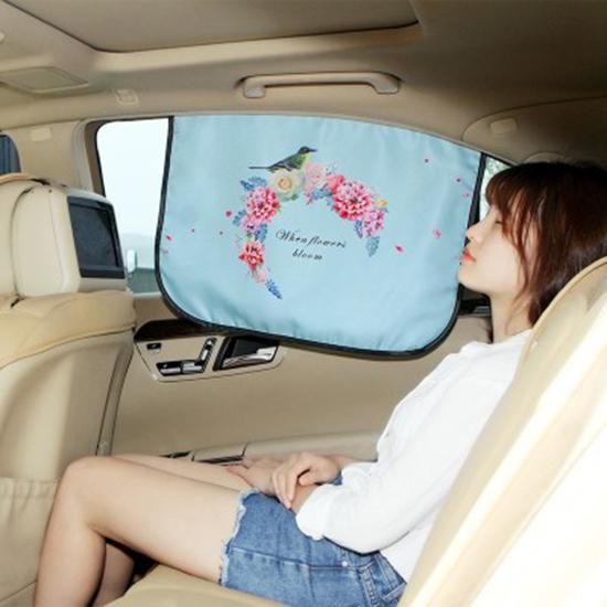 米菈生活館N361汽車防曬遮陽擋磁吸式車窗側擋遮陽簾伸縮太陽擋帶磁鐵