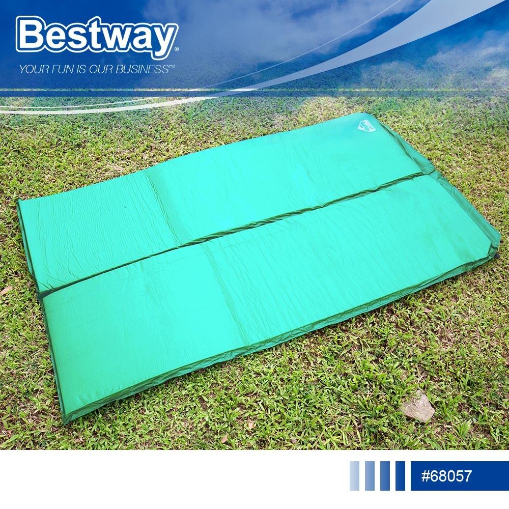 捷運新埔站*Bestway 68057雙人自動充氣睡墊.露營必備超彈性自動充氣床墊防潮睡墊瑜珈墊