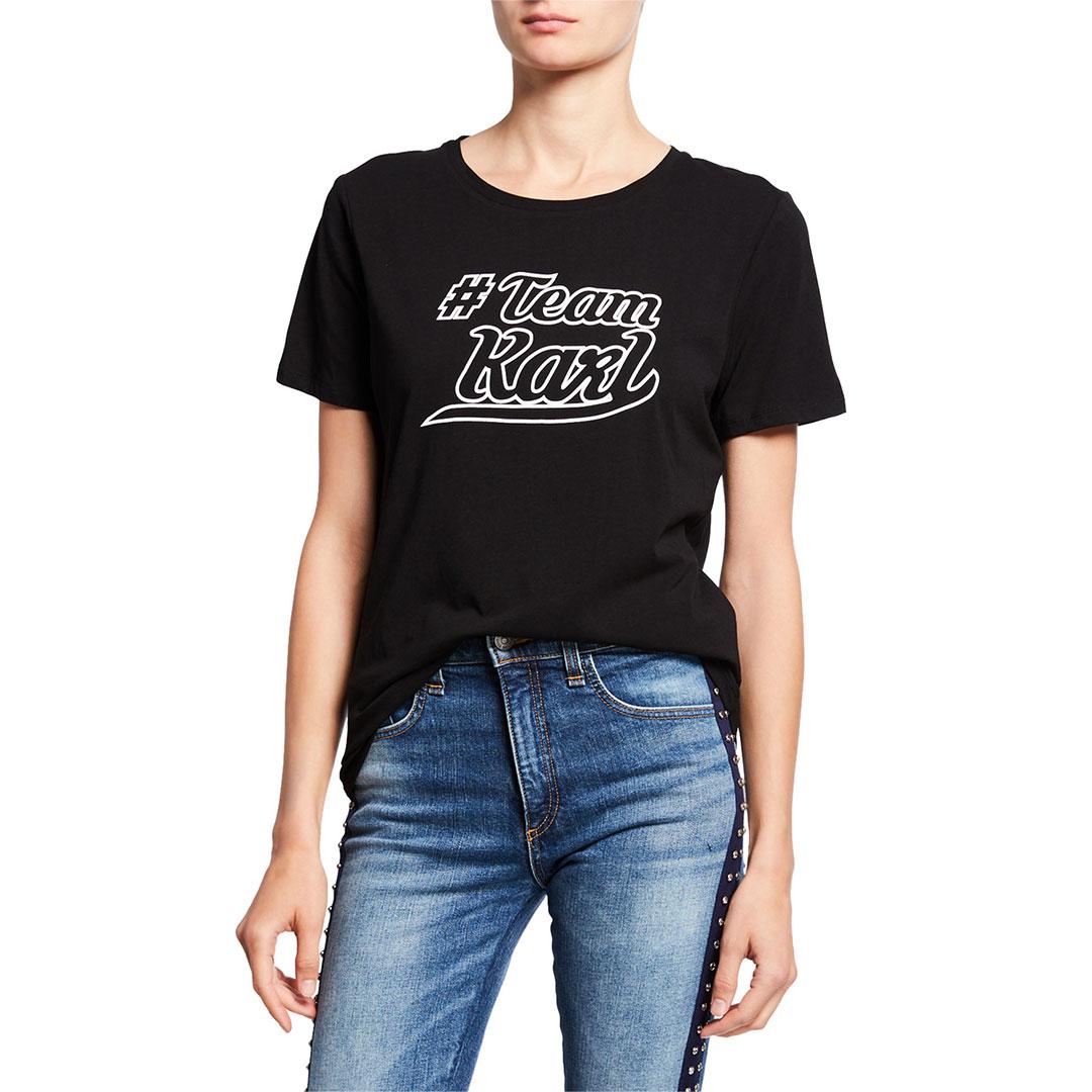 Karl Lagerfeld 卡爾 老佛爺 #TEAMKARL T恤-黑