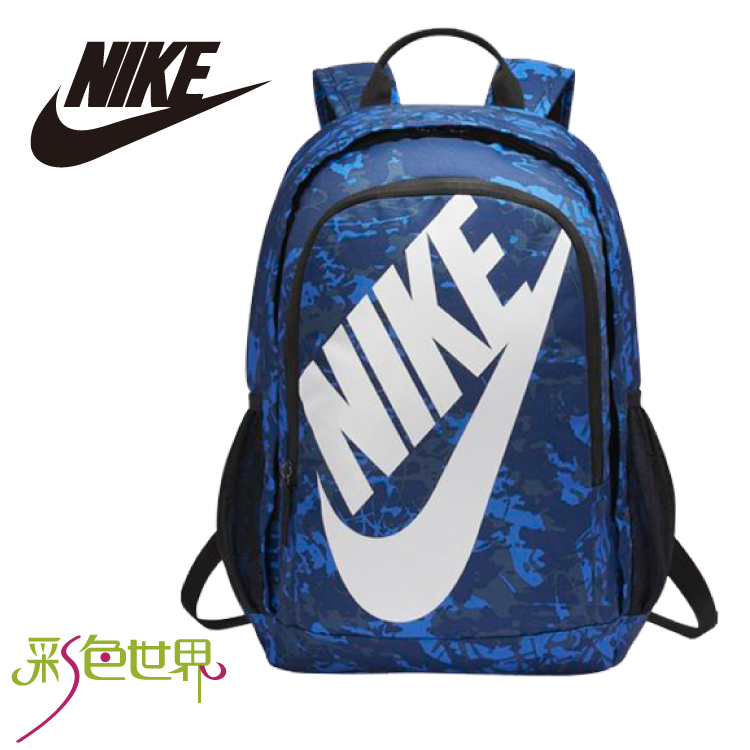 NIKE後背包包大容量筆電包韓版帆布包防潑水學生書包彩色世界5273-464