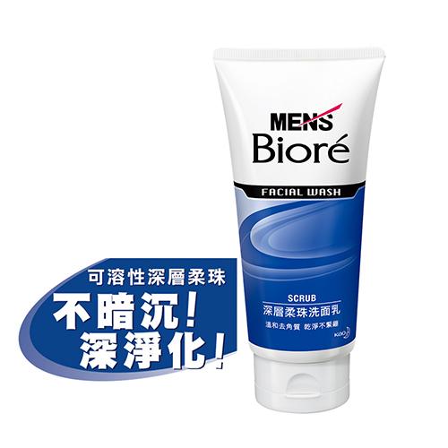 MEN s Biore男性專用深層柔珠洗面乳100g花王旗艦館