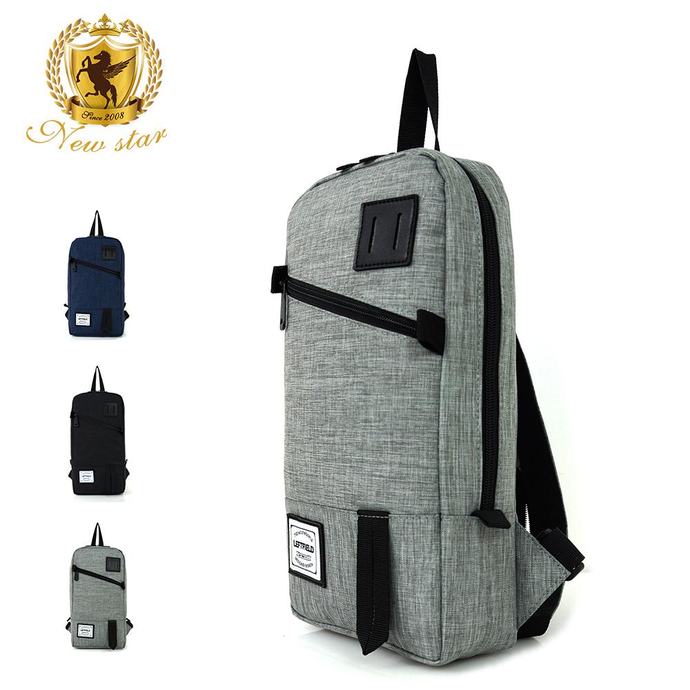 單肩背包 簡約防水前口袋豬鼻斜胸包後背包包 NEW STAR BK236