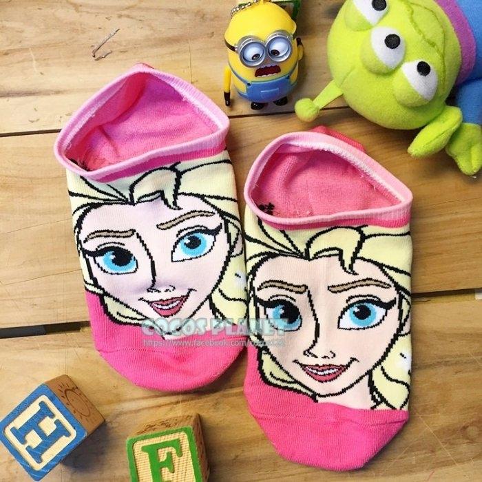 迪士尼襪子冰雪奇緣艾莎短襪船型襪踝襪止滑隱形襪COCOS JD038