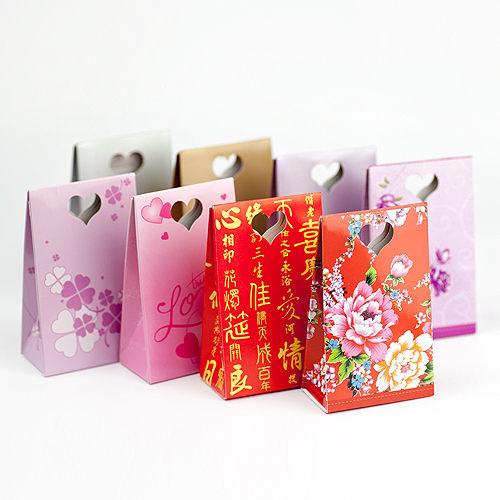 幸福婚禮小物DIY簍空愛心三角立盒喜糖盒送客禮桌上禮