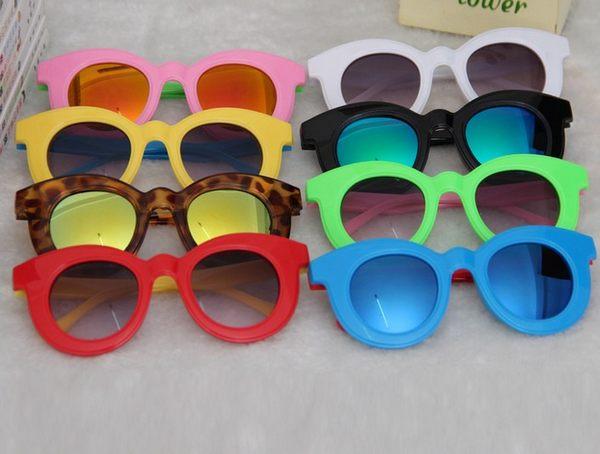 預購-兒童彩色鏡片眼鏡兒童太陽鏡墨鏡男女童蛤蟆鏡