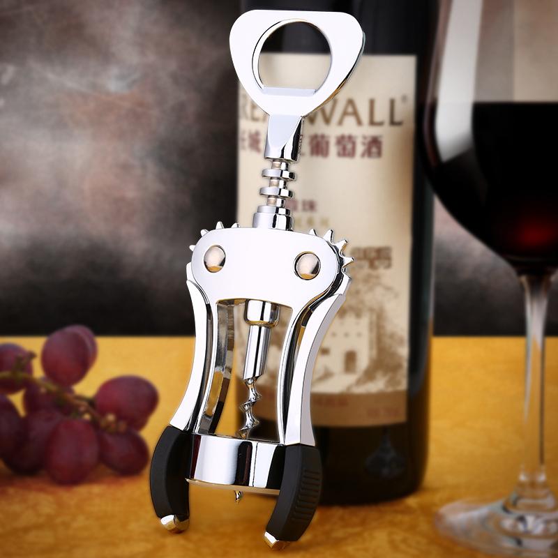 加厚開瓶器紅酒葡萄酒開酒器?瓶器啤酒起子多功能鋅合金開酒工具 全館免運