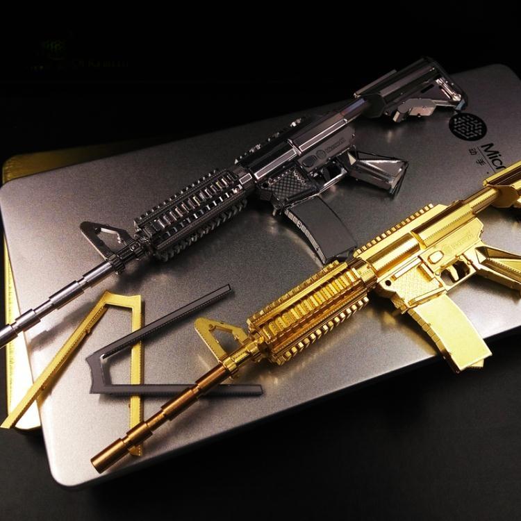金屬模型3D立體拼圖金屬模型仿真卡賓槍拼裝玩具diy創意成人手工禮物男樂享生活館