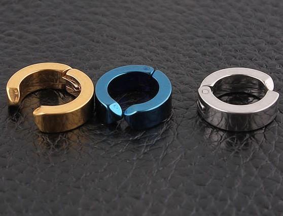 夾式耳環韓版朋克鈦鋼男女單只耳夾無耳洞耳環耳扣耳飾品B1099