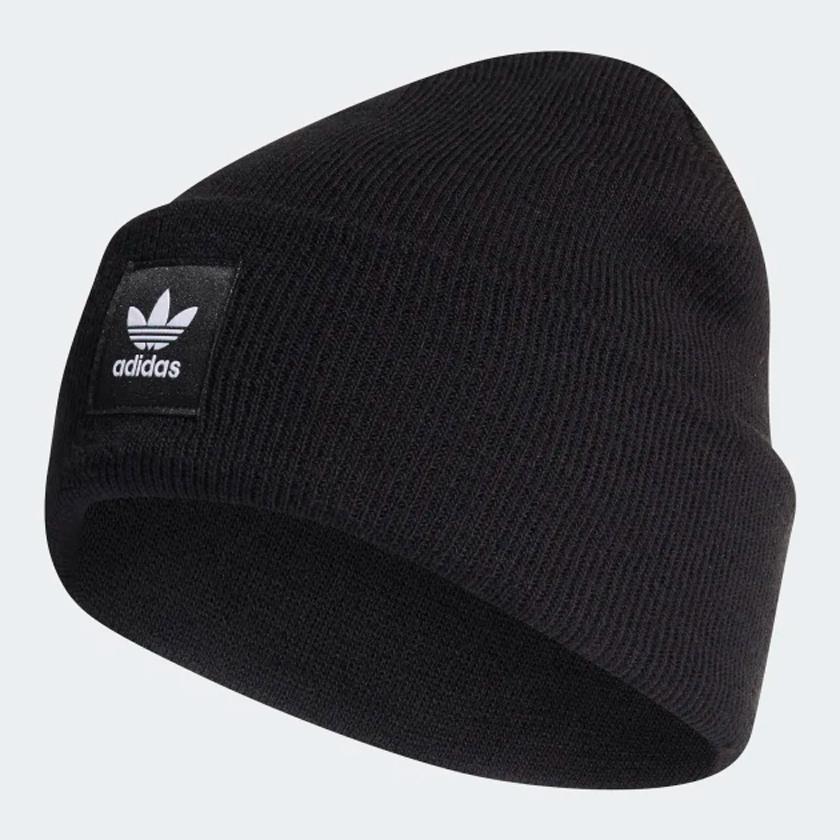 ★現貨在庫★ Adidas ADICOLOR CUFF BEANIE 毛帽 保暖 黑【運動世界】ED8712