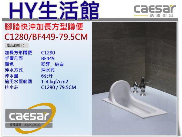凱撒衛浴C1280 BF449 79.5CM腳踏快沖加長方形蹲便腳踏式蹲式馬桶區域限制