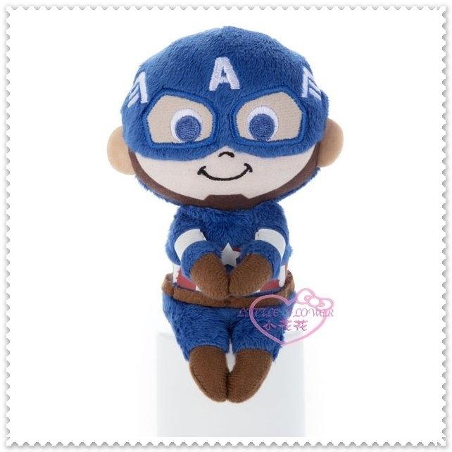小花花日本精品♥Captain America漫威MARVEL 美國隊長 藍色 全身立體造型 坐姿 娃娃11700104