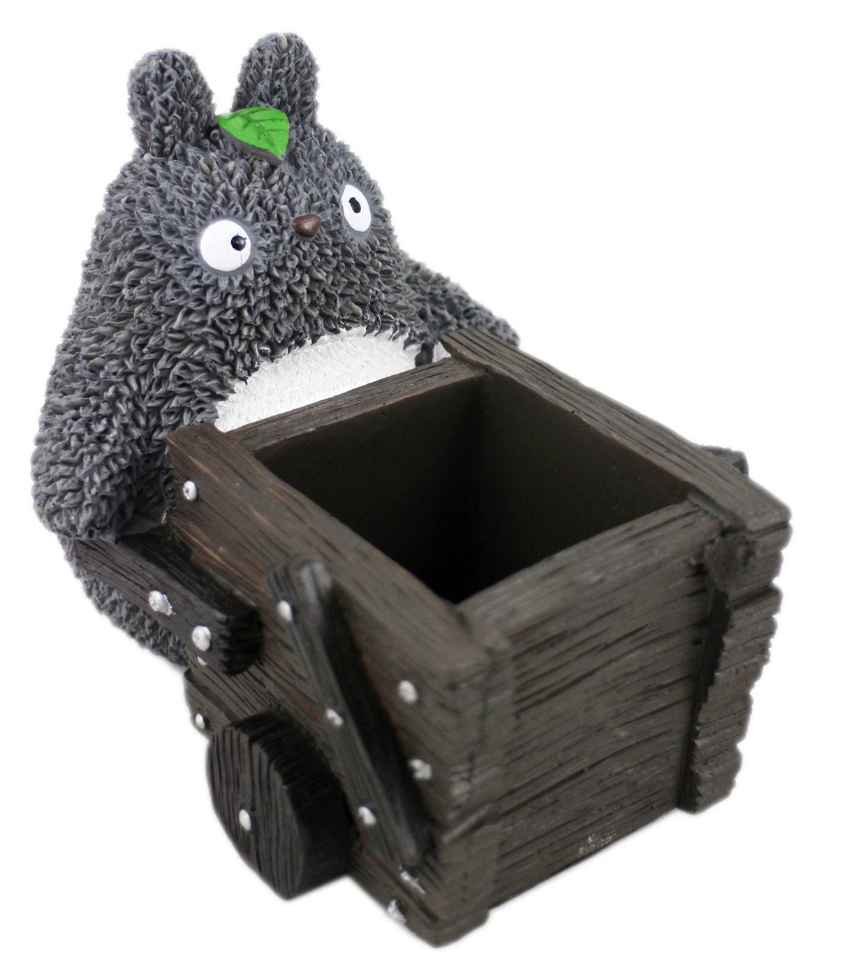 【卡漫城】 Totoro 龍貓 仿陶瓷 筆筒 推車 poly材質 公仔 擺飾 宮崎駿 手機座 收納 ~ 2 5 0元