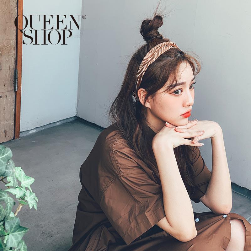 Queen Shop【07090236】粗細條紋扭結造型髮帶*現+預*