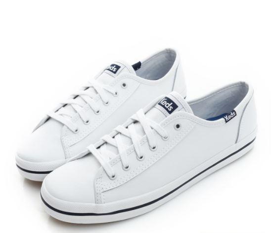 Keds KICKSTART 中性款白藍色皮革休閒鞋 -NO.9191W132145