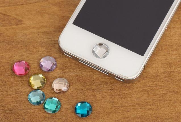 鑽石home貼ipad鑽石貼水鑽按鍵貼iphone5 按鍵貼鑽    3元