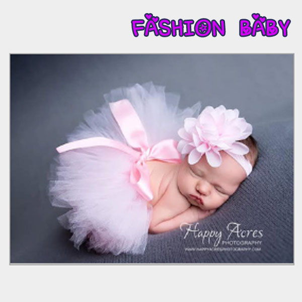 兒童攝影服裝 新生兒照相裙子 嬰兒滿月百天裙子 Fashion Baby