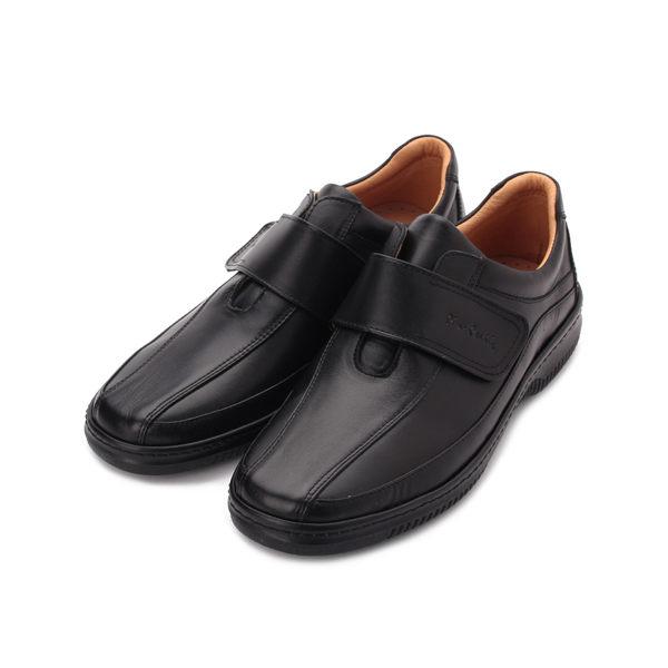 皮爾卡登 真皮魔鬼氈休閒皮鞋 黑 男鞋 鞋全家福