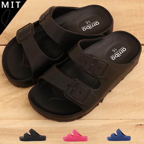 男女童MIT製造超輕量防水舒適柔軟EVA休閒拖鞋防水拖鞋厚底拖鞋59鞋廊