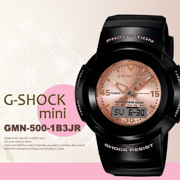 日限g-shock mini GMN-500-1B3JR中性電子錶現貨排單熱賣中