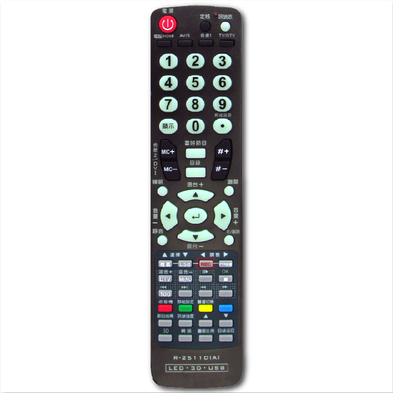 【禾聯 / 聯碩 / 西屋 / 吉普生/ 富及第】HERAN / RANSO / R-2511D 液晶電視遙控器