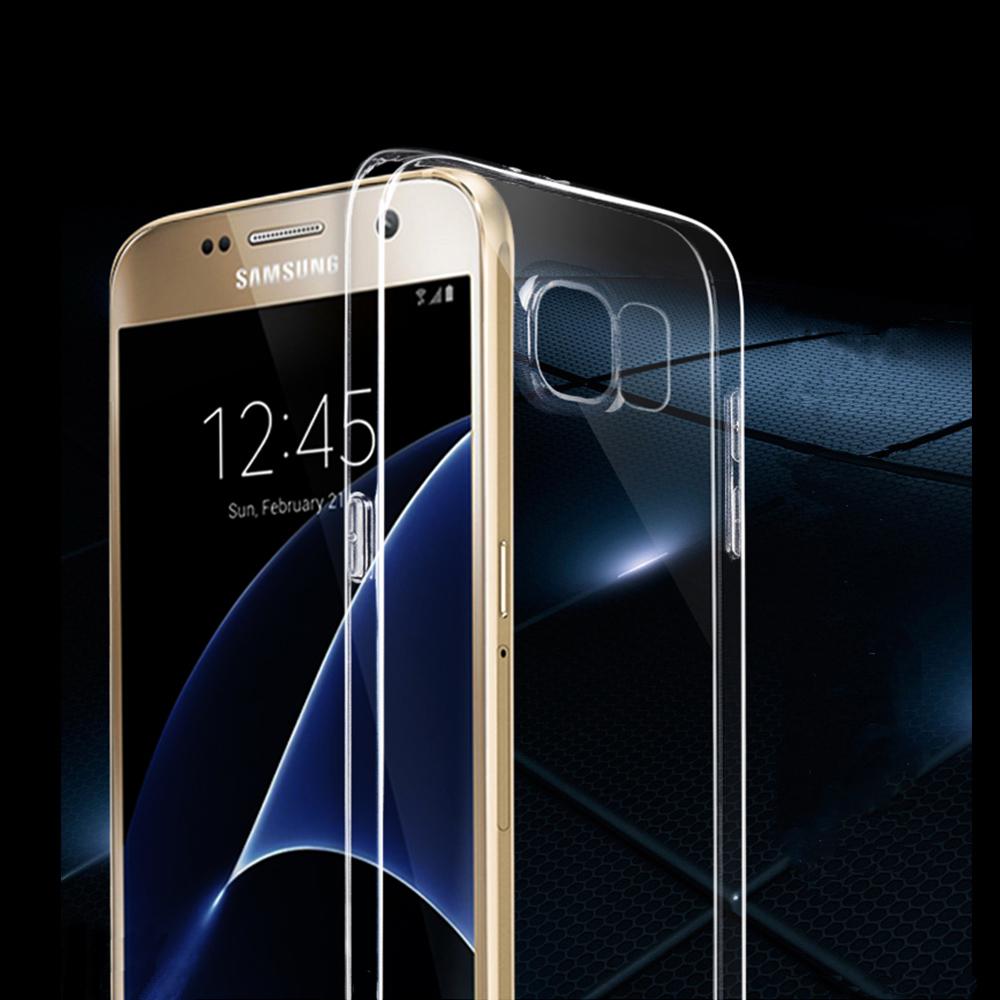 三星Samsung Galaxy S7輕薄透明TPU高質感軟式手機殼保護套微凸鏡頭保護防塵塞設計