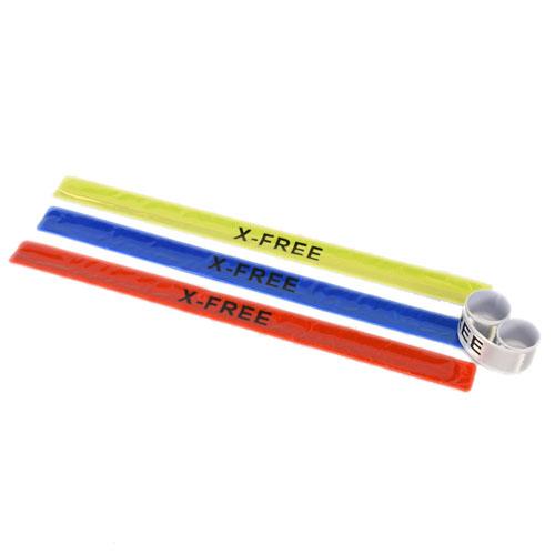 *阿亮單車* X-FREE圖樣反光彈簧尺,可做腳束或纏在手臂上增加警示效果,四種顏色《C00-902》