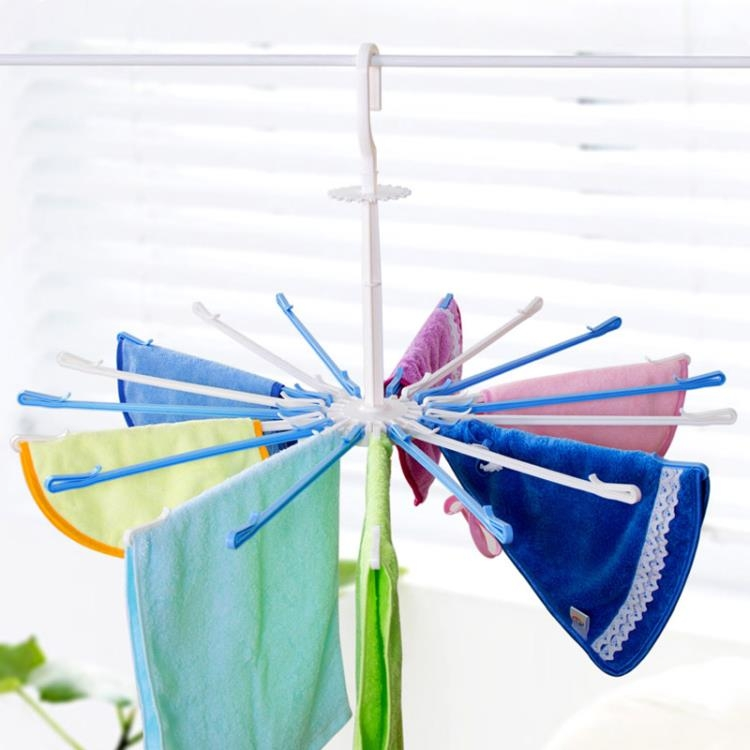 超豐國際防風折疊衣架兒童寶寶掛衣架家用塑料內衣架衣服架晾衣