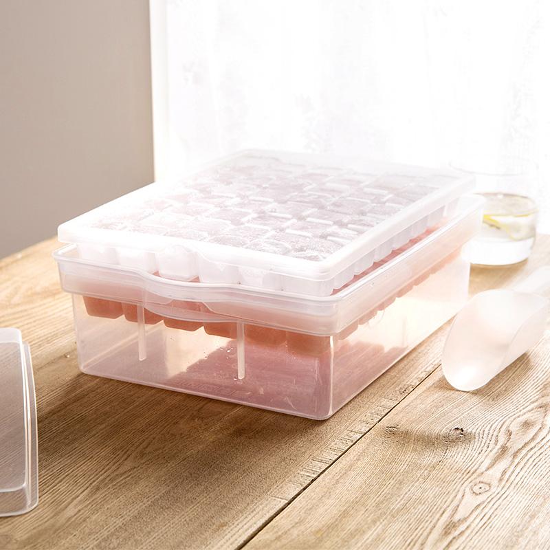 [超豐國際]帶蓋制作冰格模具冰箱冰塊盒創意家用做凍冰塊的盒子制冰盒