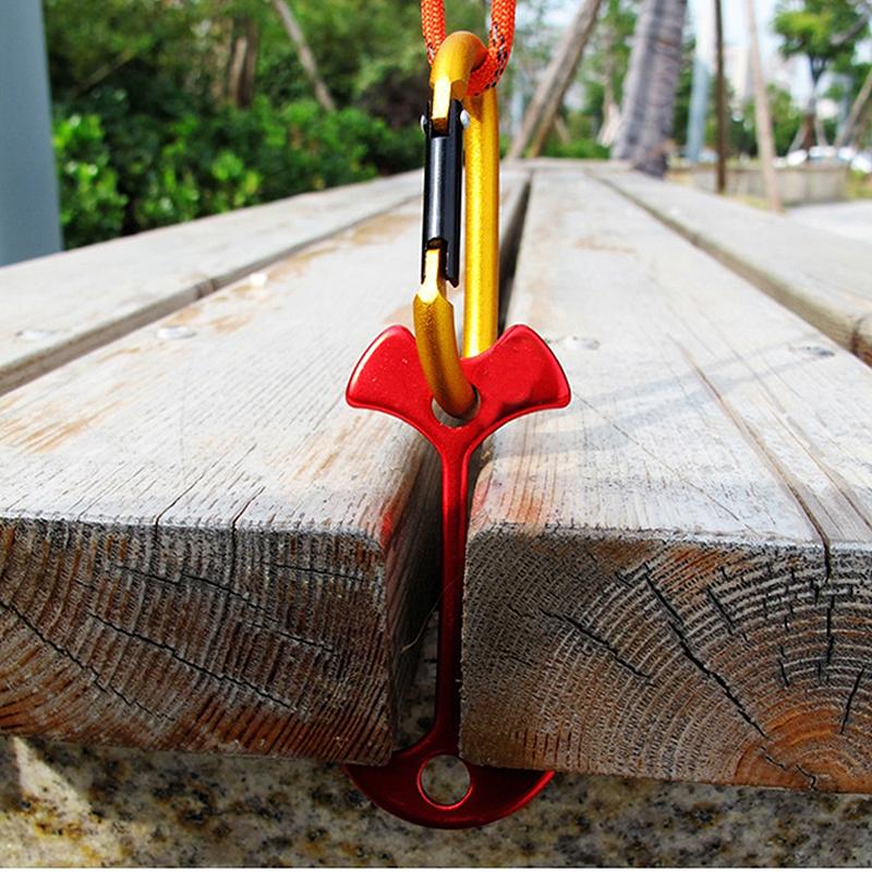 【泰博思】(加長款) 戶外露營魚骨地釘 魚骨釘  鋁合金 戶外棧道甲板專用【H055-T】