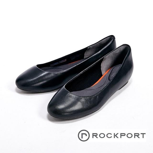 Rockport 全方位動能系列/Black WP隱藏式楔型跟鞋-黑