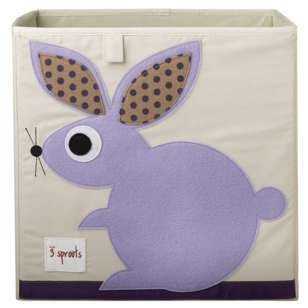 【加拿大 3 Sprouts】收納箱-兔子款
