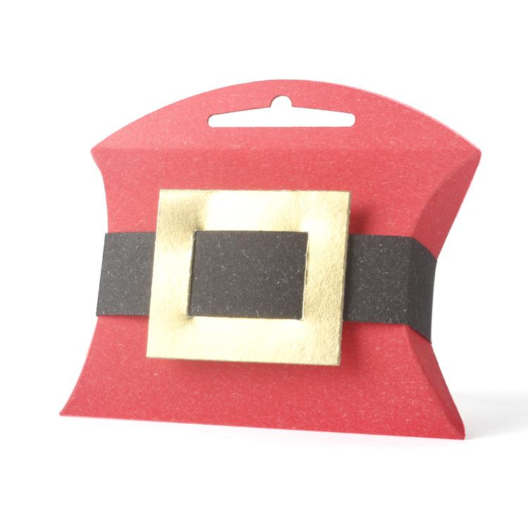 2016新年款{聖誕老公公}手提派盒(20入/組)飾品手工餅乾包裝盒手提盒聖誕盒紅黑設計腰帶