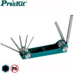 Pro'sKit 寶工 8PK-021NA 英制摺疊型內六角扳手組 7支組