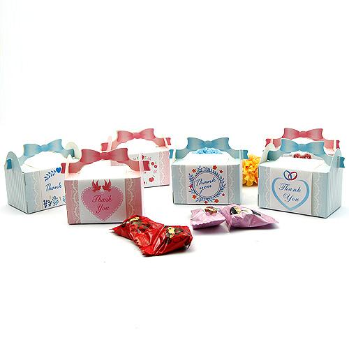 幸福婚禮小物DIY浪漫禮物喜糖盒-10入喜糖盒歐美婚禮小物小禮物盒送客禮桌上禮