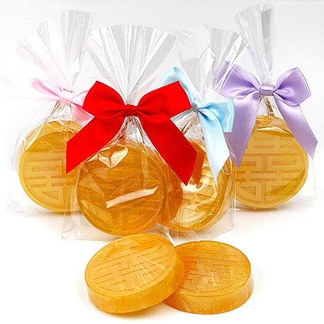 幸福婚禮小物喜字錢幣造型手工香皂10入喝茶禮探房禮送客禮活動禮物手工香皂