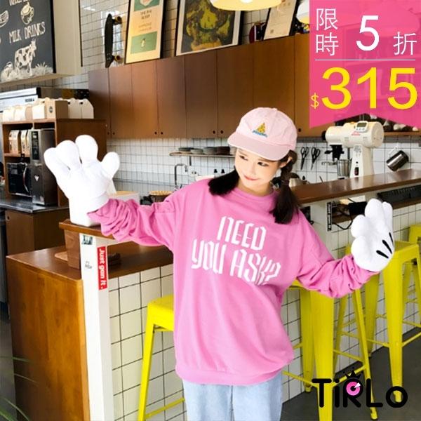 T袖-Tirlo-青春個性特殊英字長袖大學T-三色(現 追加預計5-7工作天出貨)